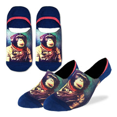 Men's Space Monkey No Show Socks - Good Luck Sock