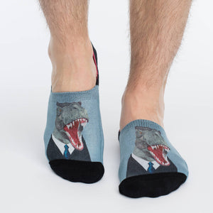 Men's Mr. T-Rex No Show Socks