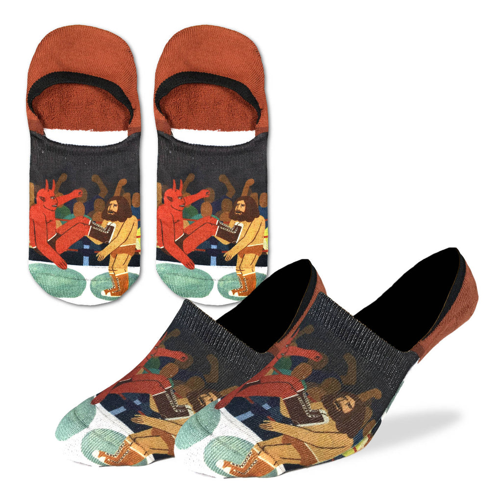 Men's Wrestling Good vs. Evil No Show Socks