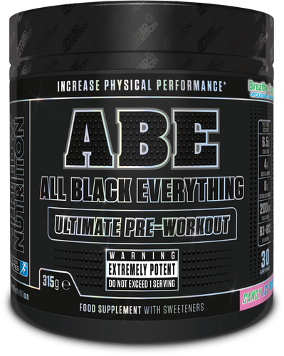 All Black Everything ABE by Applied Nutrition, Pre-Workout Stimulant Caffeine Ultimate Strong