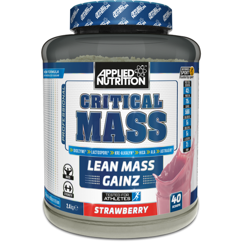 Applied Nutrition Critical Mass 2.4KG mass gainer weight gain whey protein supplement Lancashire