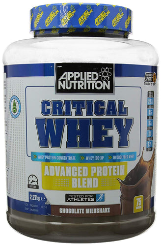 Applied nutrition critical whey 2.27kg or 75 servings. available in six flavours