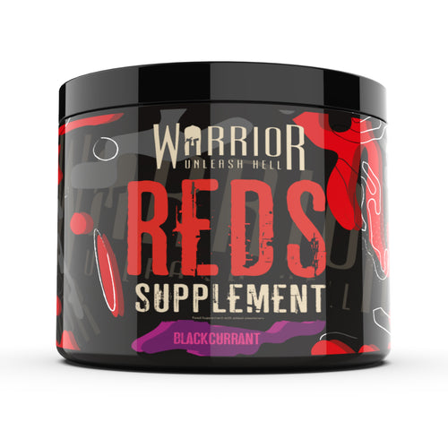 Warrior Reds vitamin superfood supplement 30 servings available in Watermelon and Blackcurrant