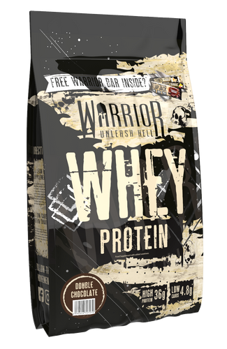 Warrior Whey Protein Supplement 1KG White Double Chocolate Strawberry Vanilla