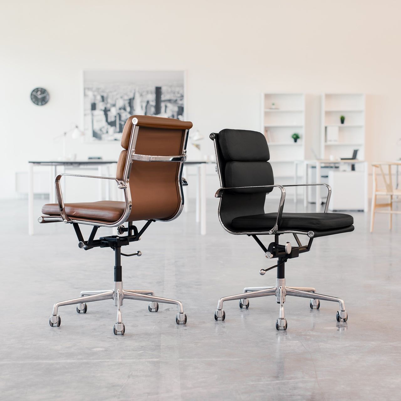 SHIPS SEPTEMBER 30TH - SOHO Soft Pad Management Chair (Dark Brown)