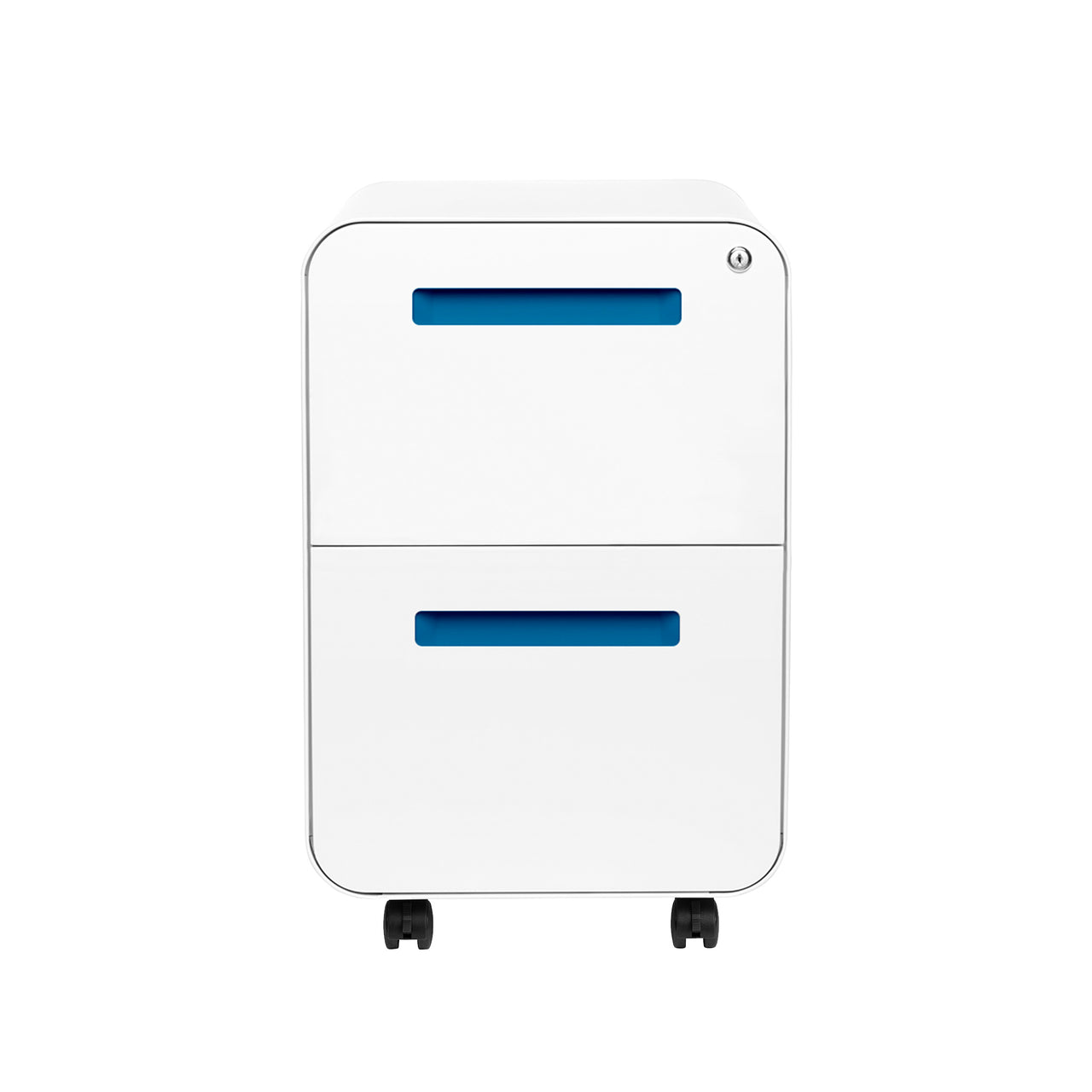 Stockpile Curve 2-Drawer File Cabinet (White/Blue)