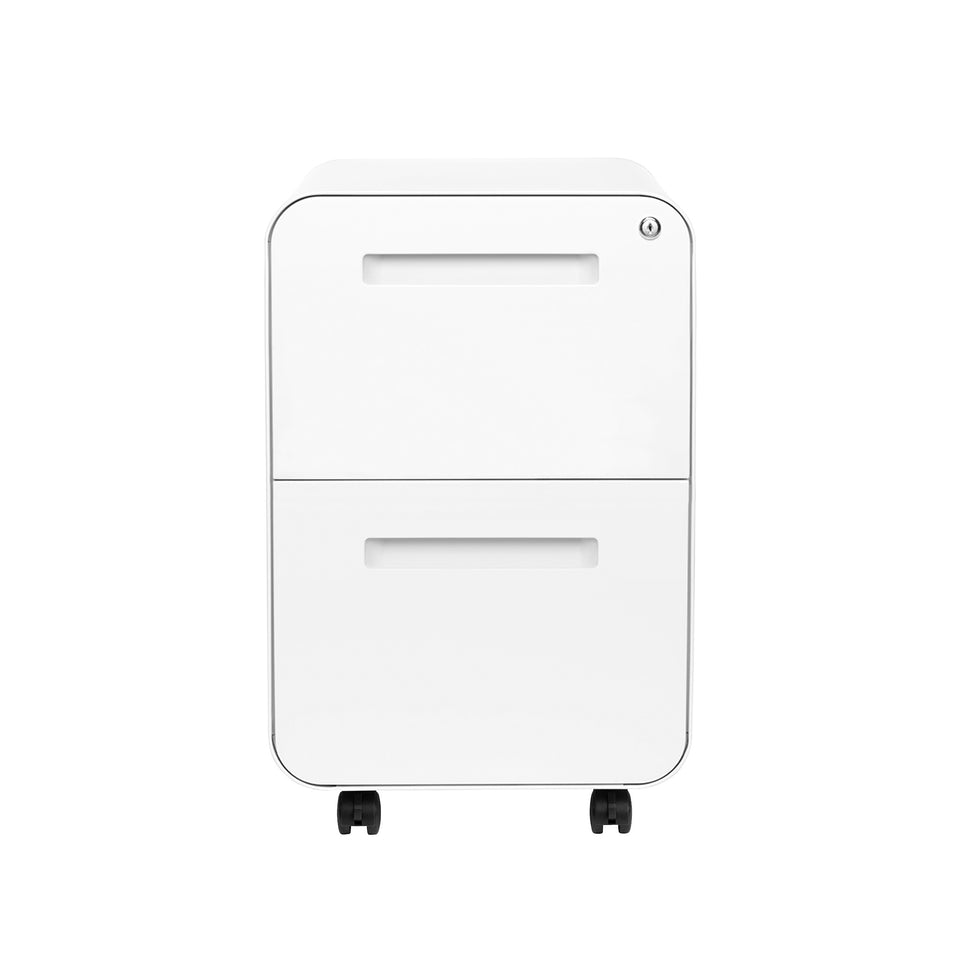 SHIPS APRIL 30TH - Stockpile Curve 2-Drawer File Cabinet (White)