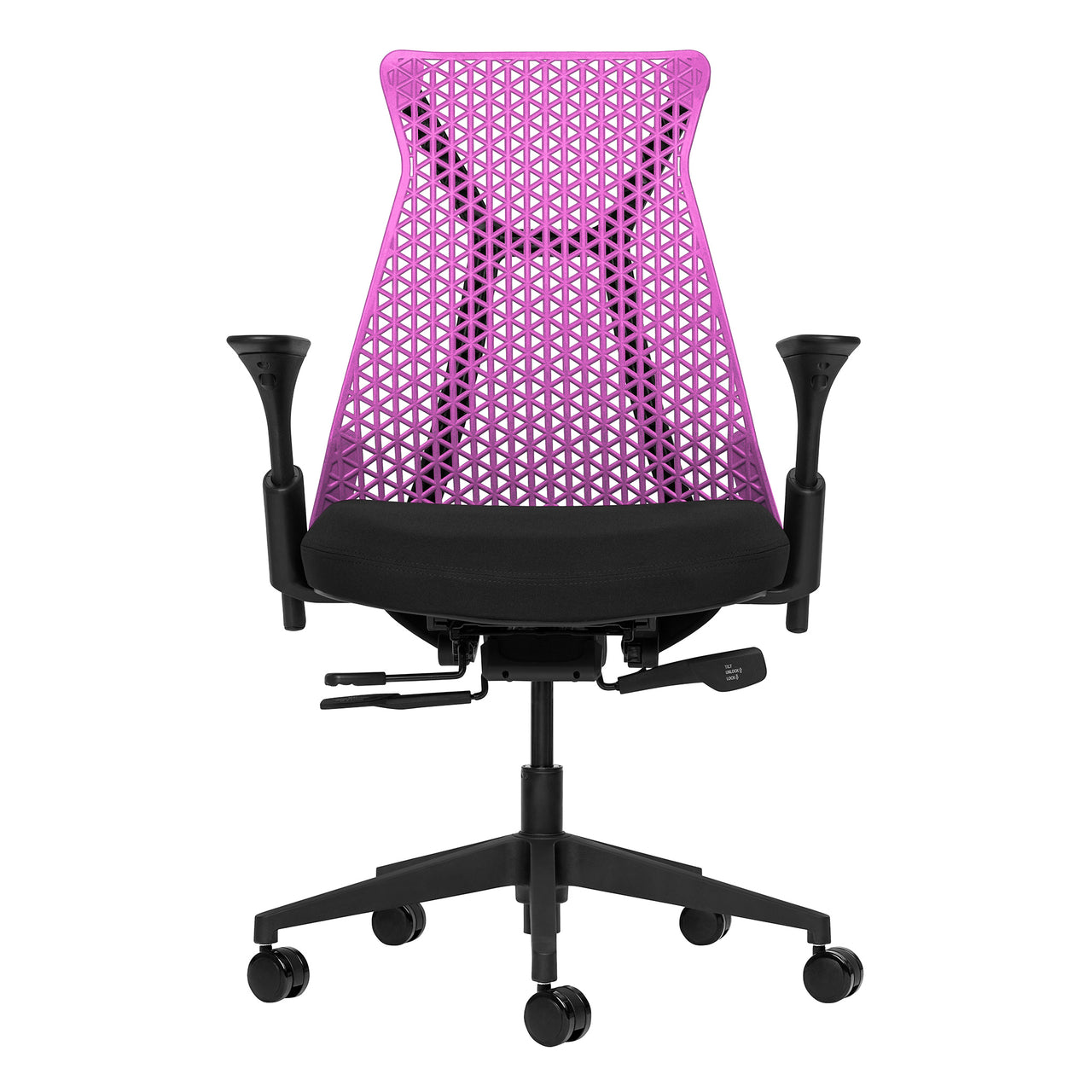 Bowery Management Chair (Magenta/Black)