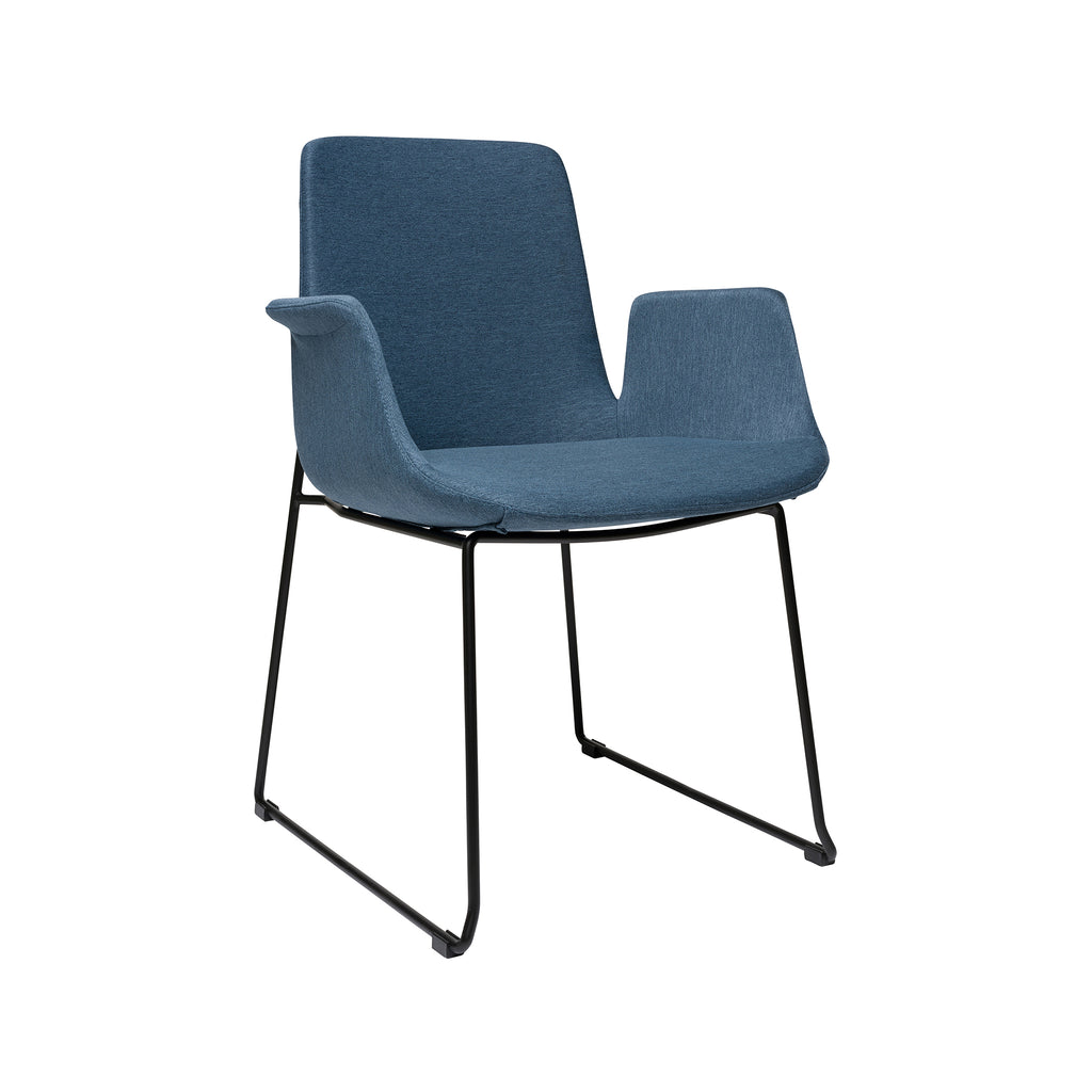 Brooklyn Arm Chair - Dark Blue