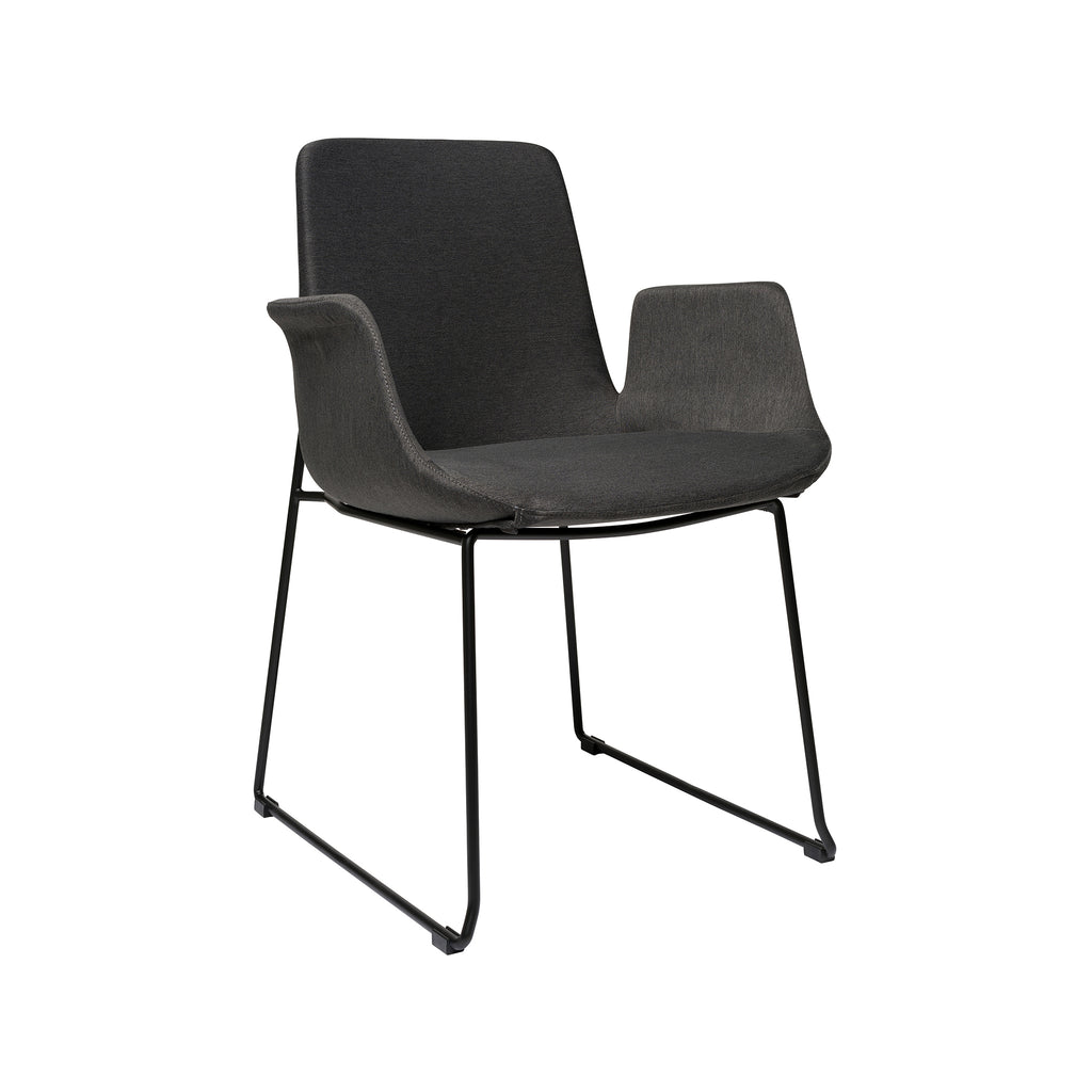 Brooklyn Arm Chair - Dark Grey