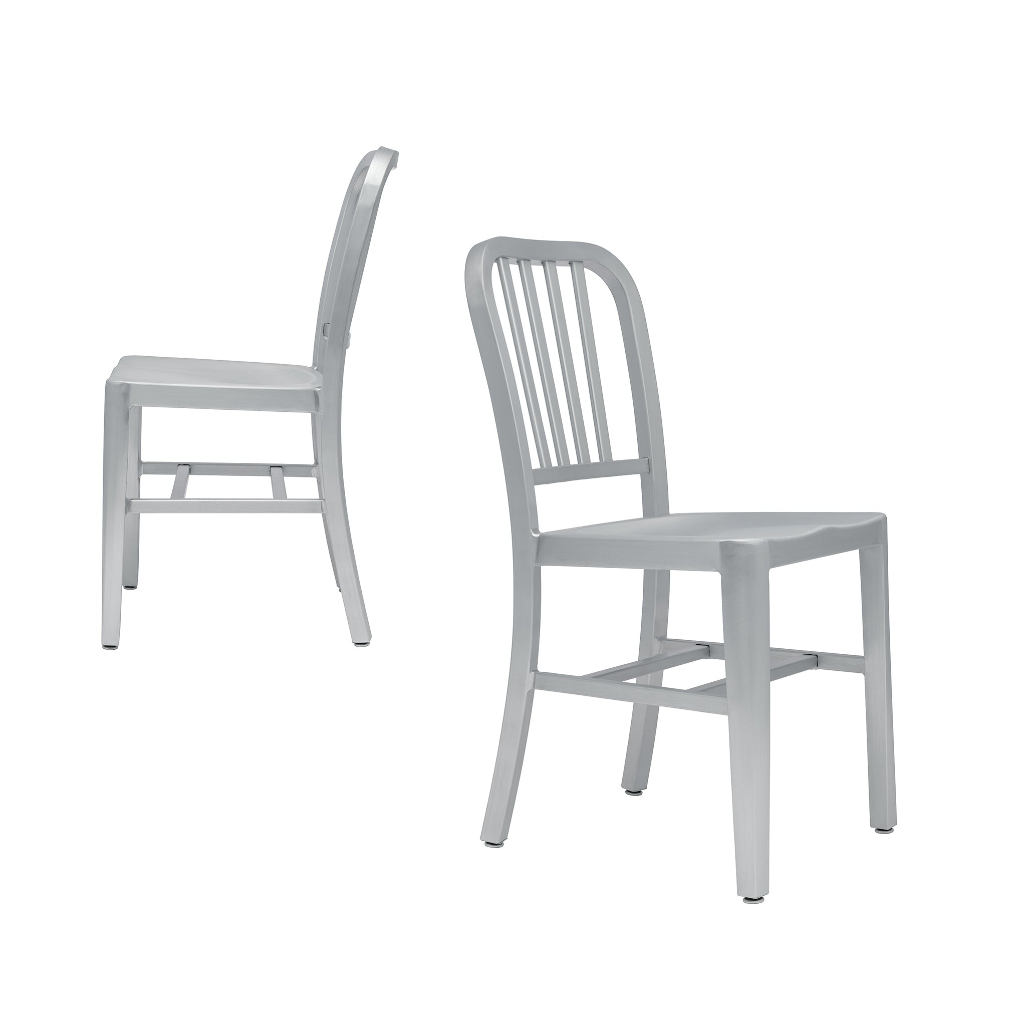 Bryant Side Chairs - Set of 2 (Brushed Aluminum)