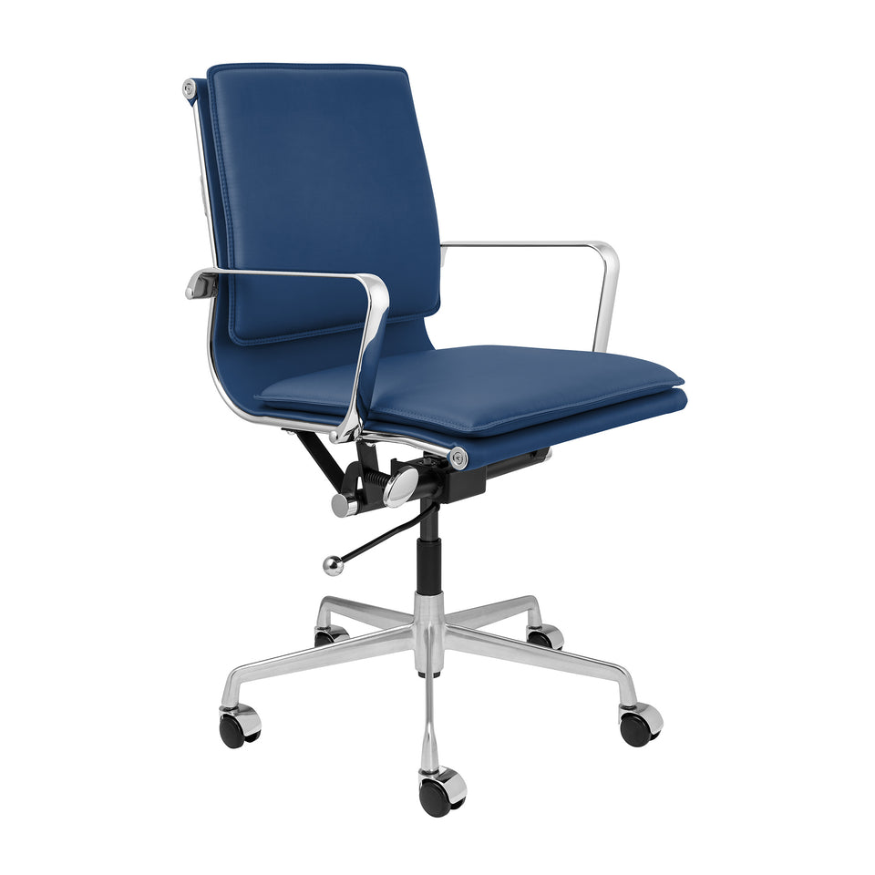 Lexi Soft Pad Office Chair (Blue)