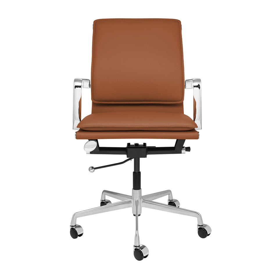 Lexi Soft Pad Office Chair (Brown)