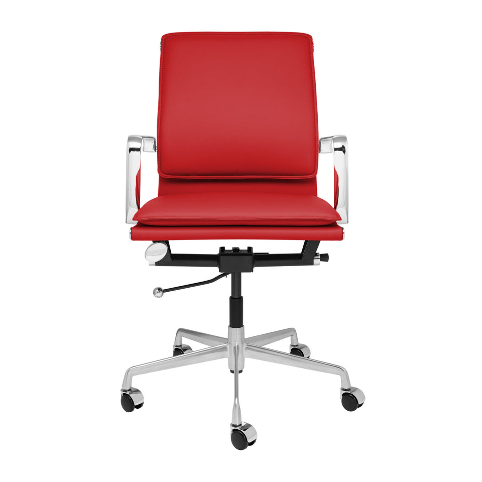 Lexi Soft Pad Office Chair (Red)