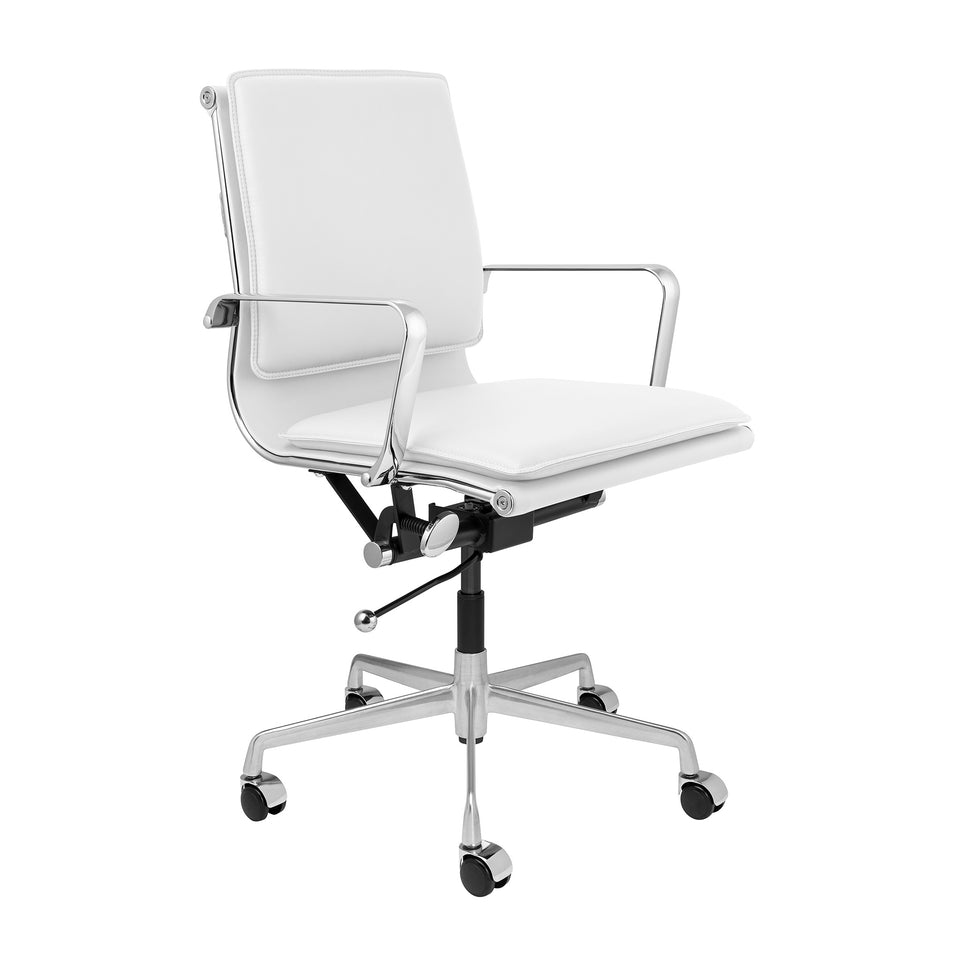 Lexi Soft Pad Office Chair (White)