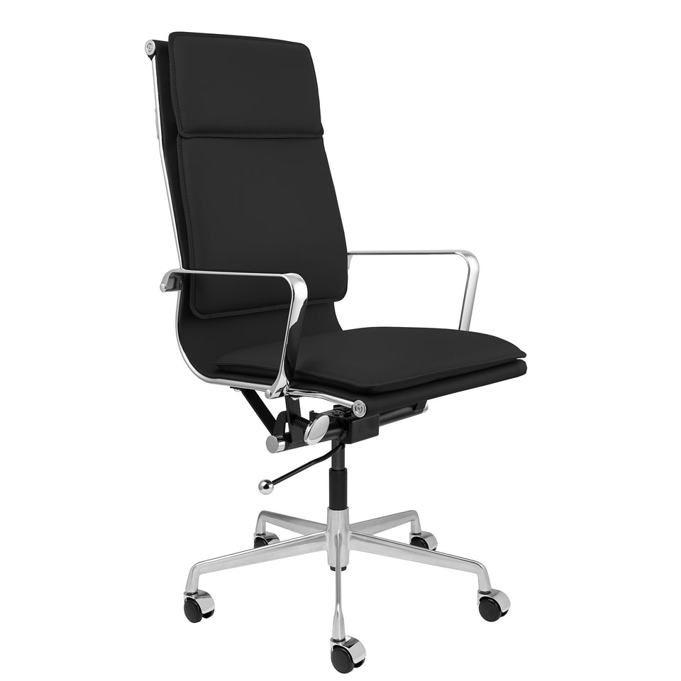 SHIPS OCTOBER 23RD - Lexi Tall Back Soft Pad Office Chair (Black)