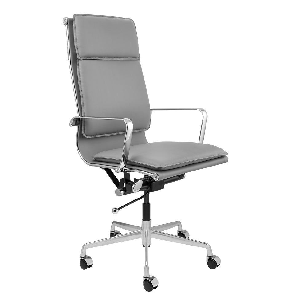 SHIPS OCTOBER 23RD - Lexi Tall Back Soft Pad Office Chair (Grey)