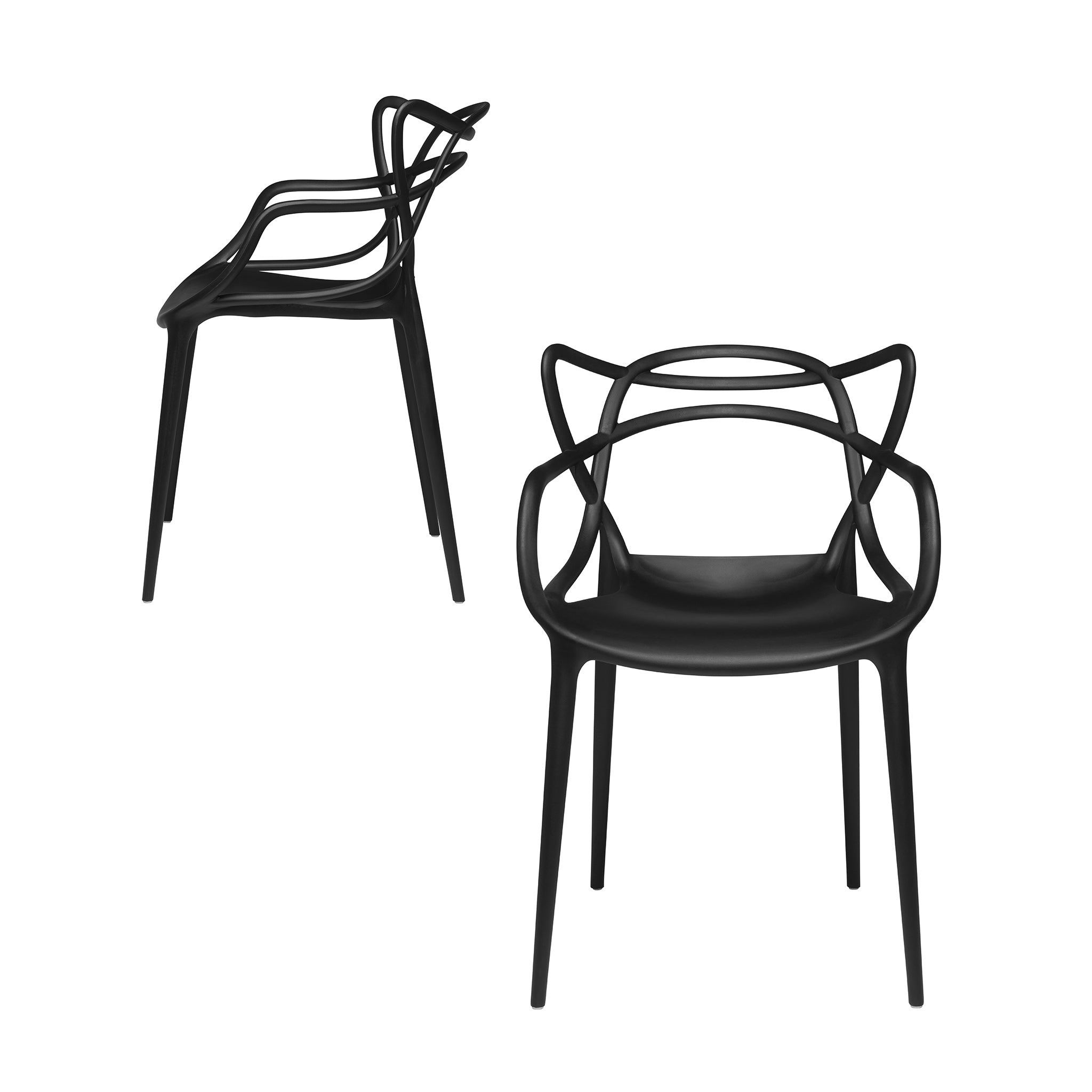 Set of 2 - Masters Entangled Chair (Black)