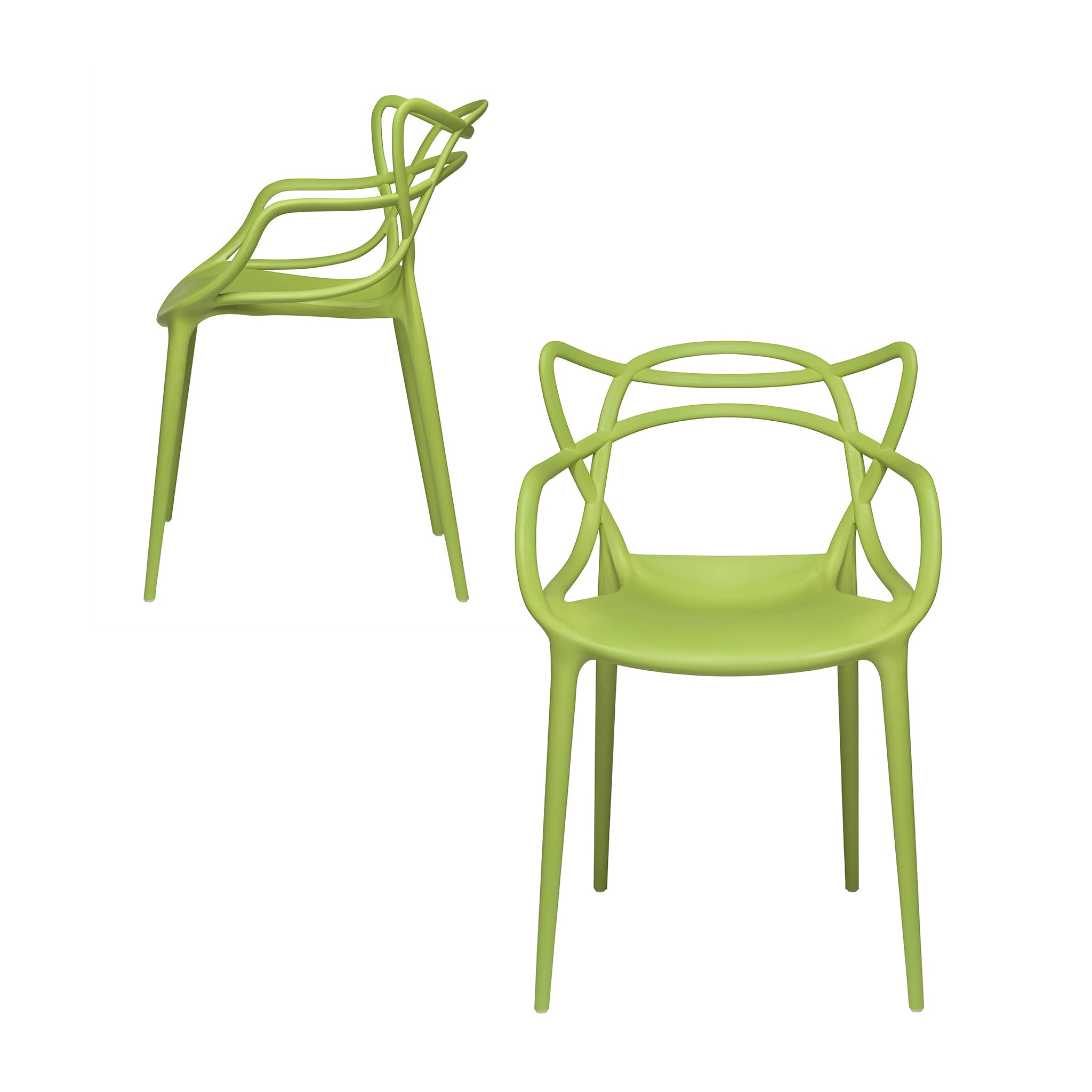 Set of 2 - Masters Entangled Chair (Green)