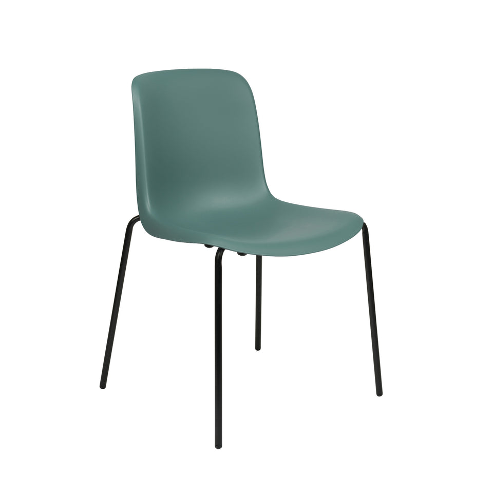 Murray Side Chairs, 4-Leg Base, Set of 2 (Teal)