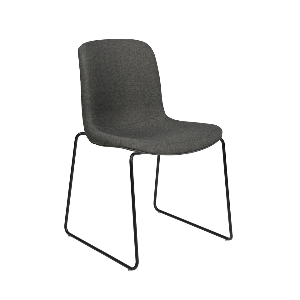 Murray Stackable Side Chairs, Set of 2 (Charcoal Fabric)