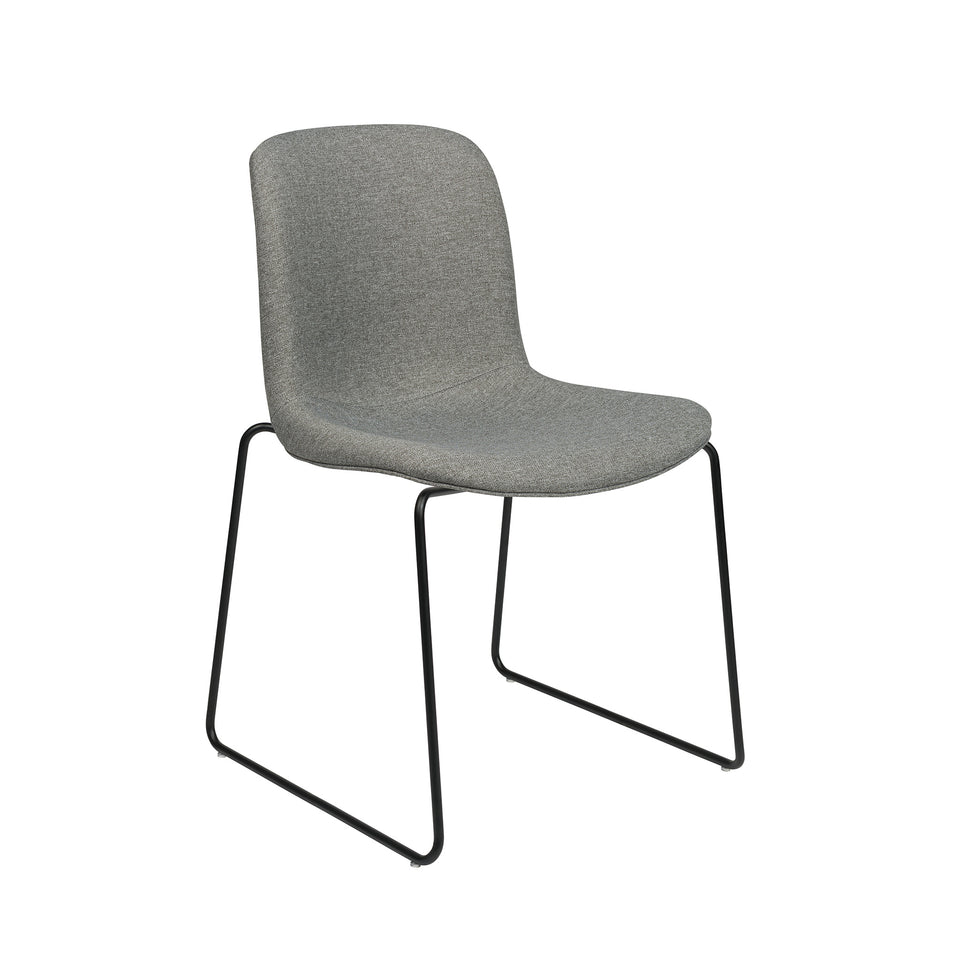 Murray Stackable Side Chairs, Set of 2 (Grey Fabric)