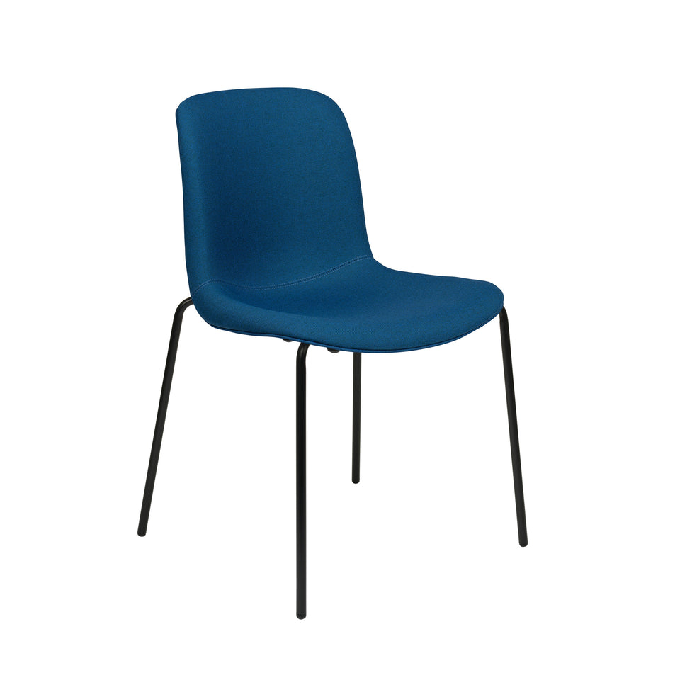 Murray Side Chairs, 4-Leg Base, Set of 2 (Blue Fabric)