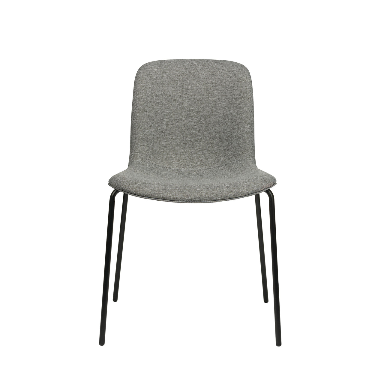 Murray Side Chairs, 4-Leg Base, Set of 2 (Grey Fabric)