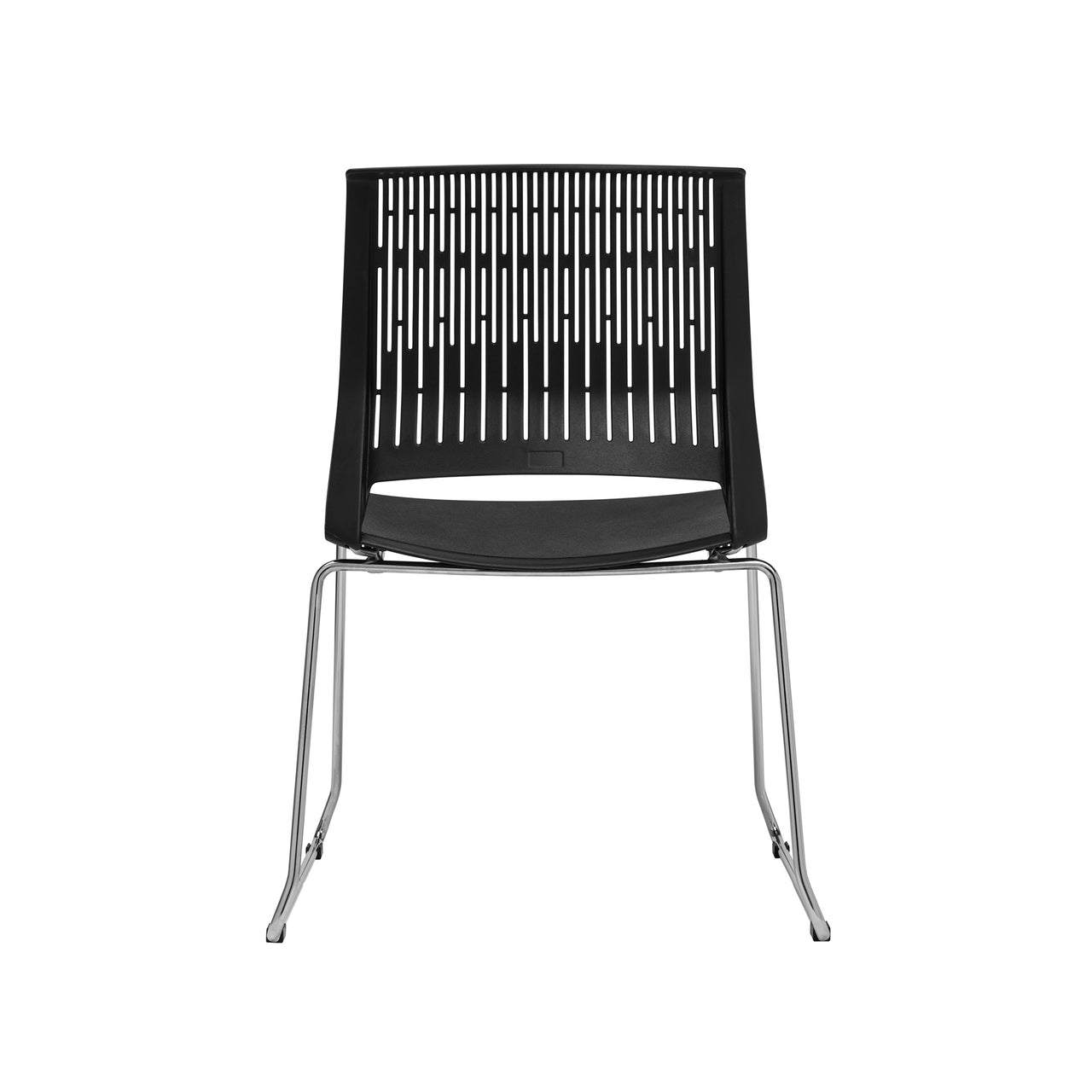 Set of 4 - Perry Stacking Side Chair (Black)