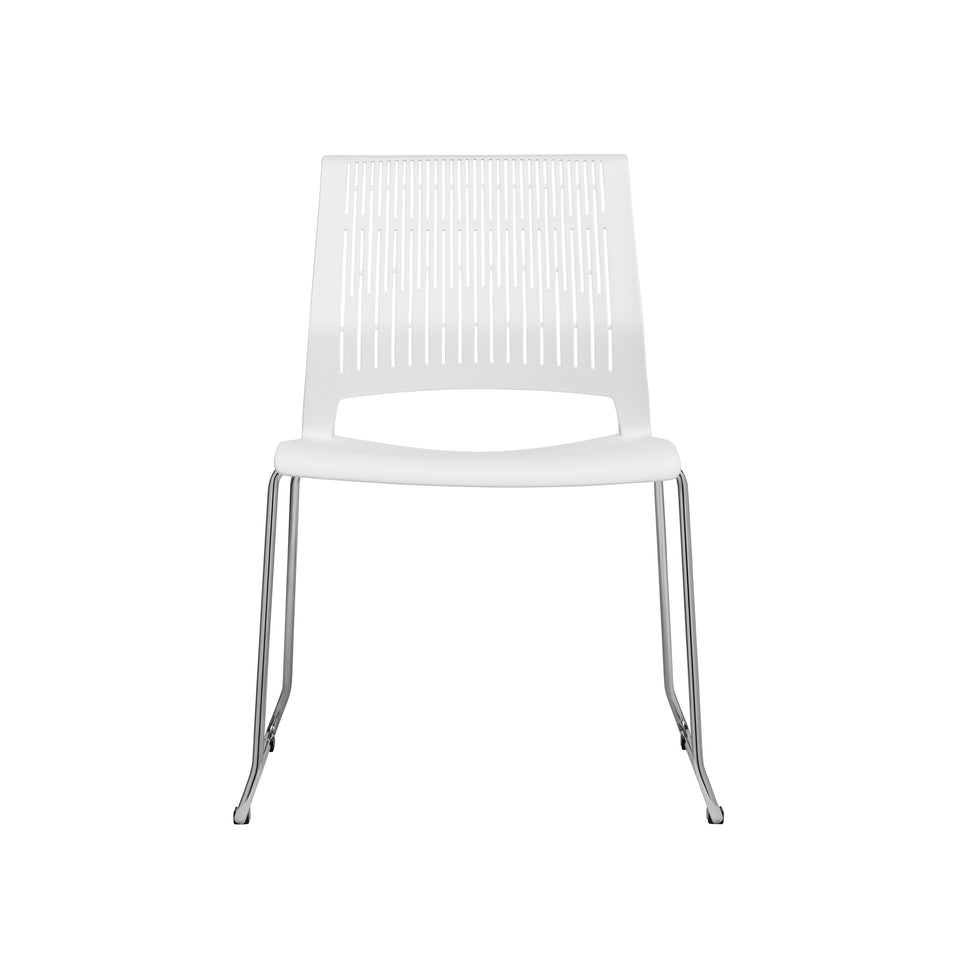 Set of 4 - Perry Stacking Side Chair (White)