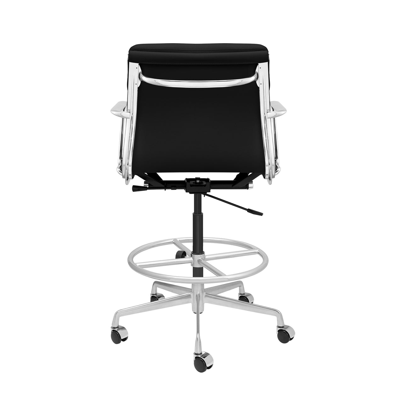 SHIPS MAY 14TH - SOHO Pro Soft Pad Drafting Chair (Black Italian Leather)