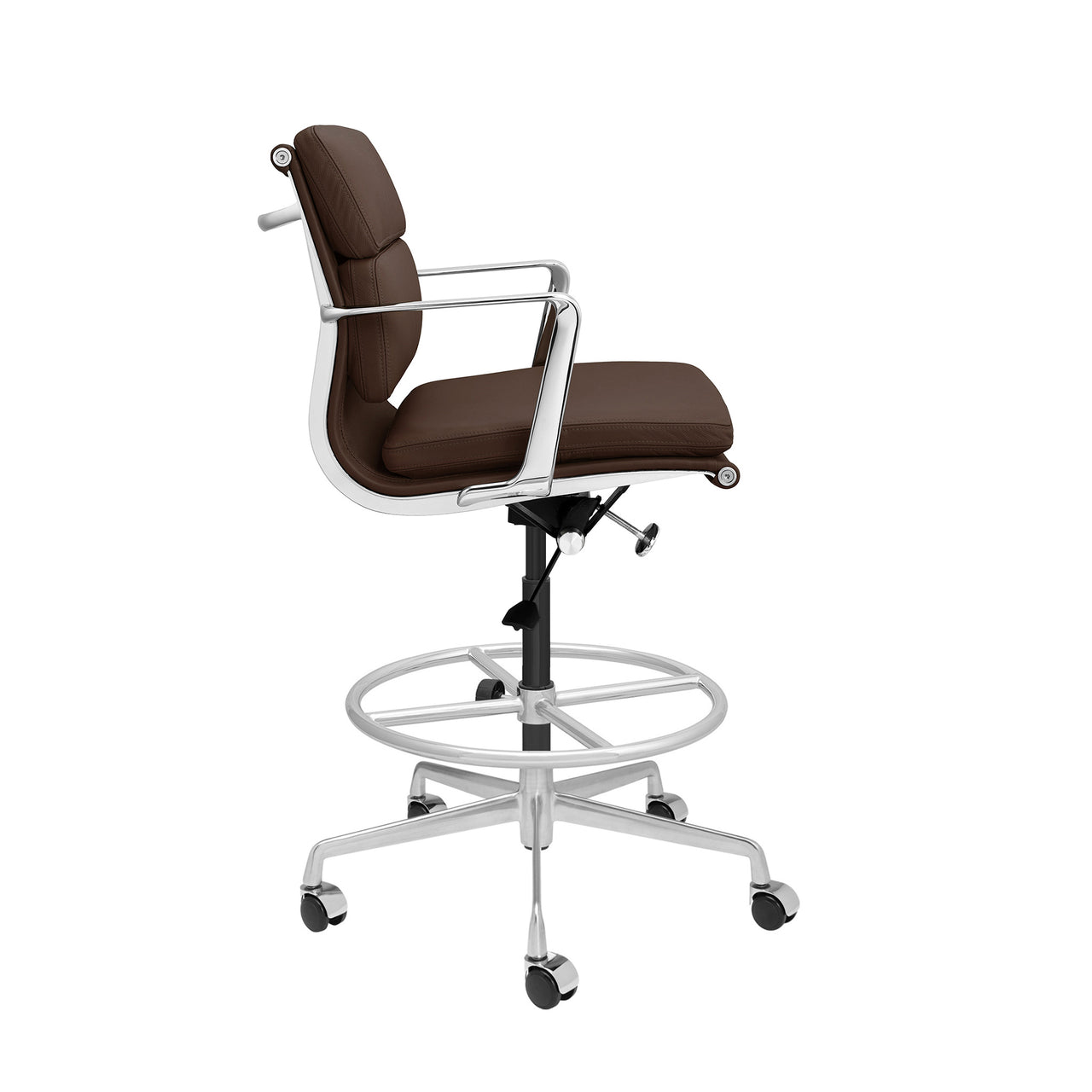 SOHO Pro Soft Pad Drafting Chair (Dark Brown Italian Leather)