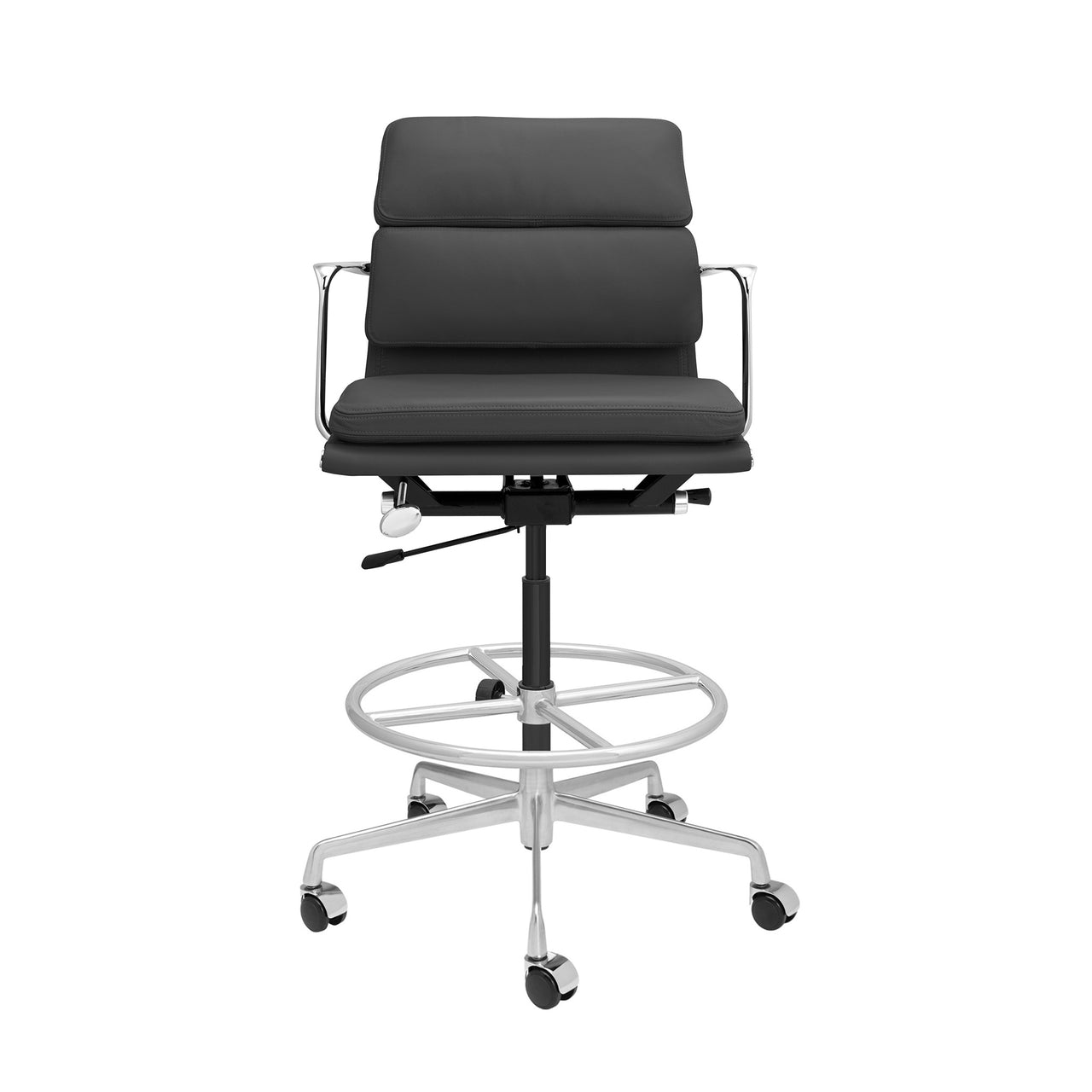 SOHO Pro Soft Pad Drafting Chair (Dark Grey Italian Leather)
