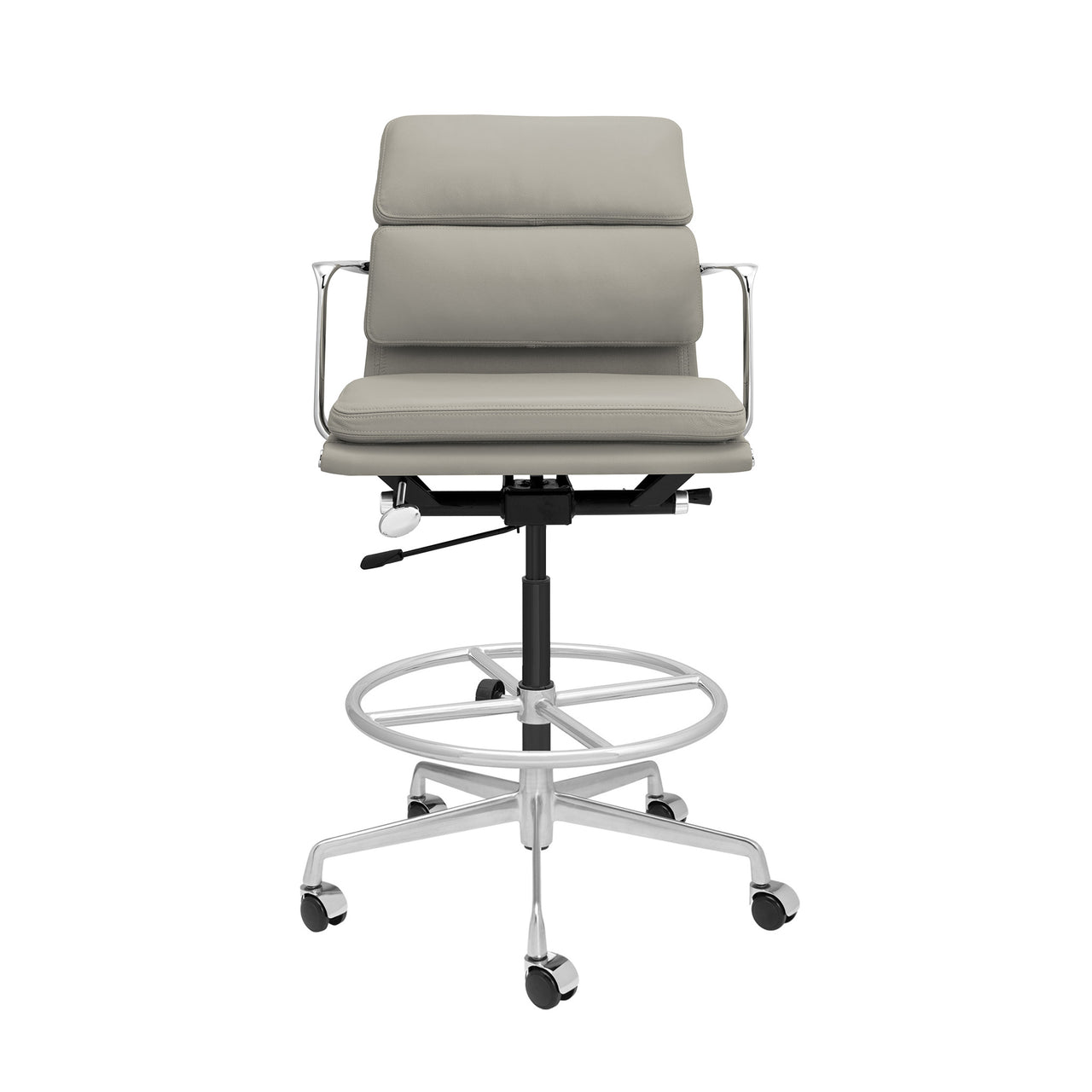 SOHO Pro Soft Pad Drafting Chair (Grey Italian Leather)