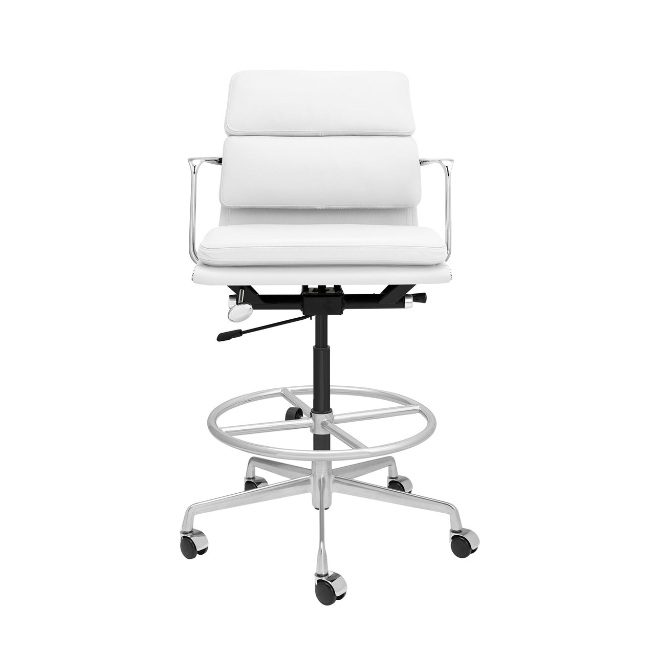 SOHO Pro Soft Pad Drafting Chair (White Italian Leather)