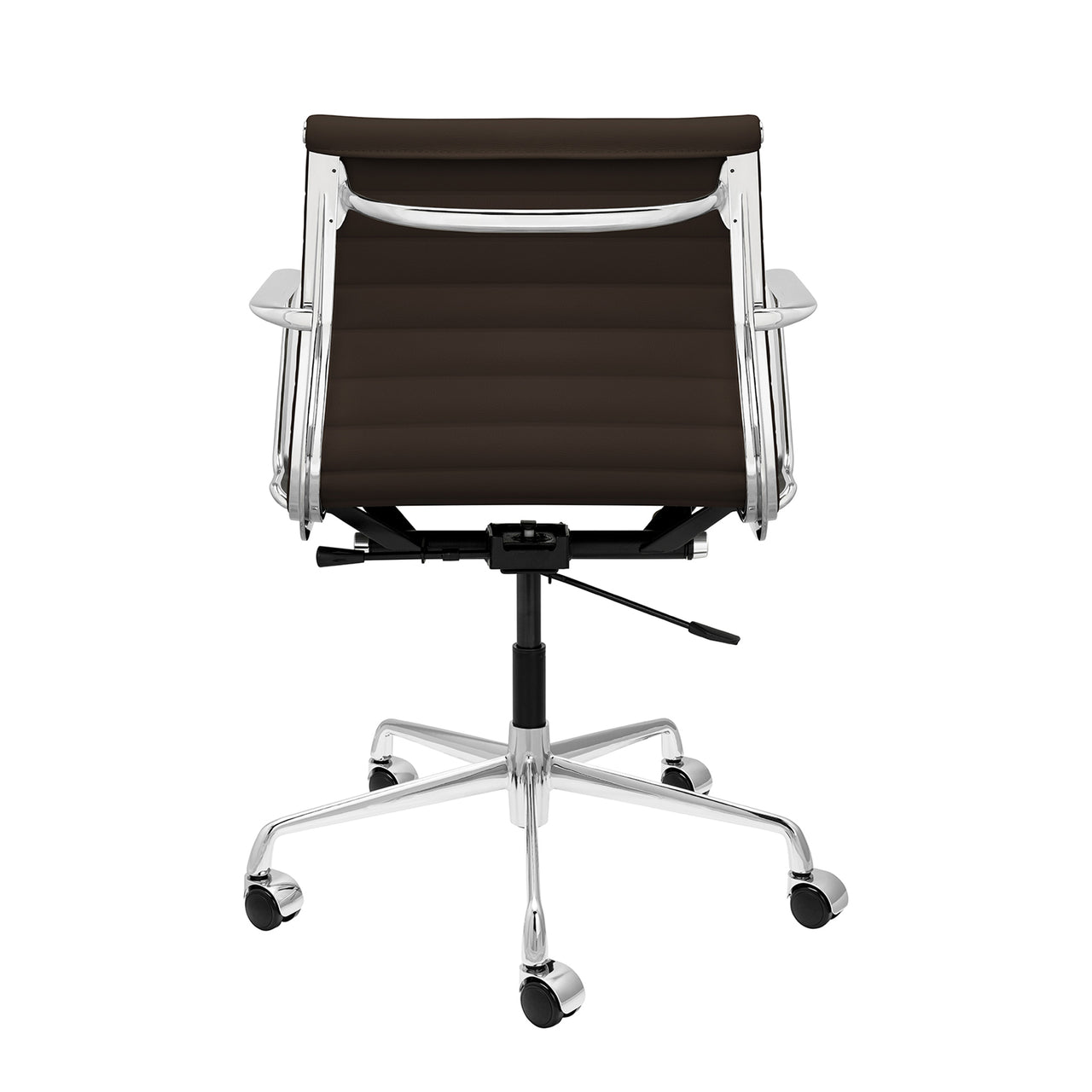 SOHO Pro Ribbed Management Chair (Dark Brown Italian Leather)