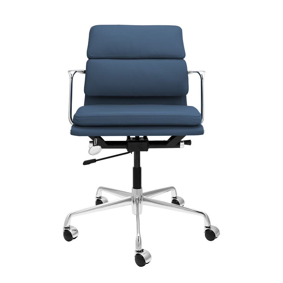 SOHO Pro Soft Pad Management Chair (Blue Italian Leather)
