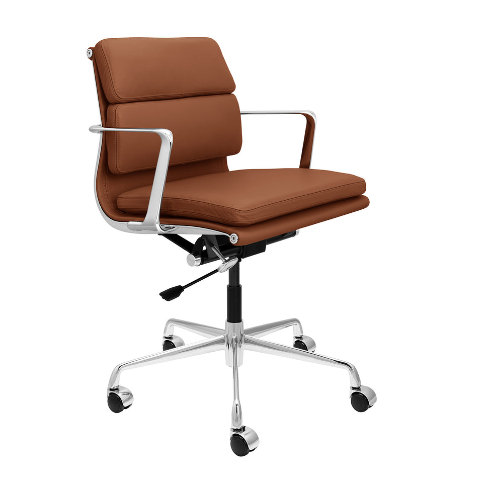 SOHO Pro Soft Pad Management Chair (Brown Italian Leather)