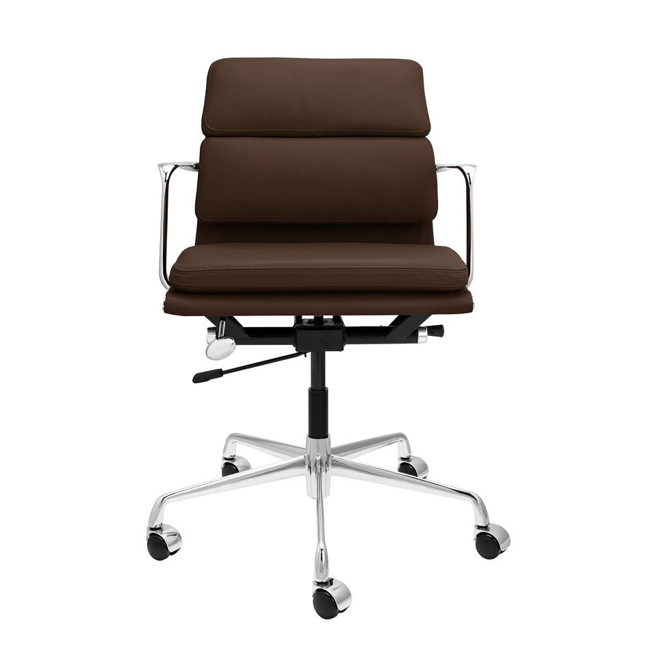 SOHO Pro Soft Pad Management Chair (Dark Brown Italian Leather)