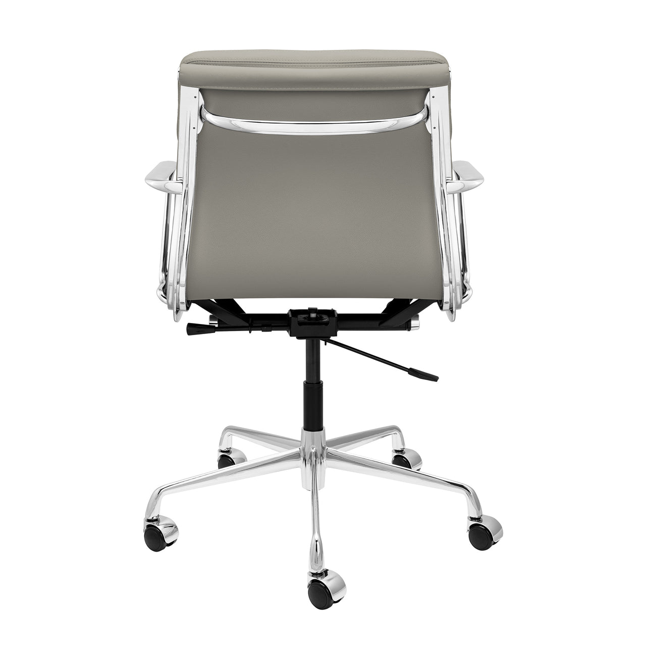 SOHO Pro Soft Pad Management Chair (Grey Italian Leather)