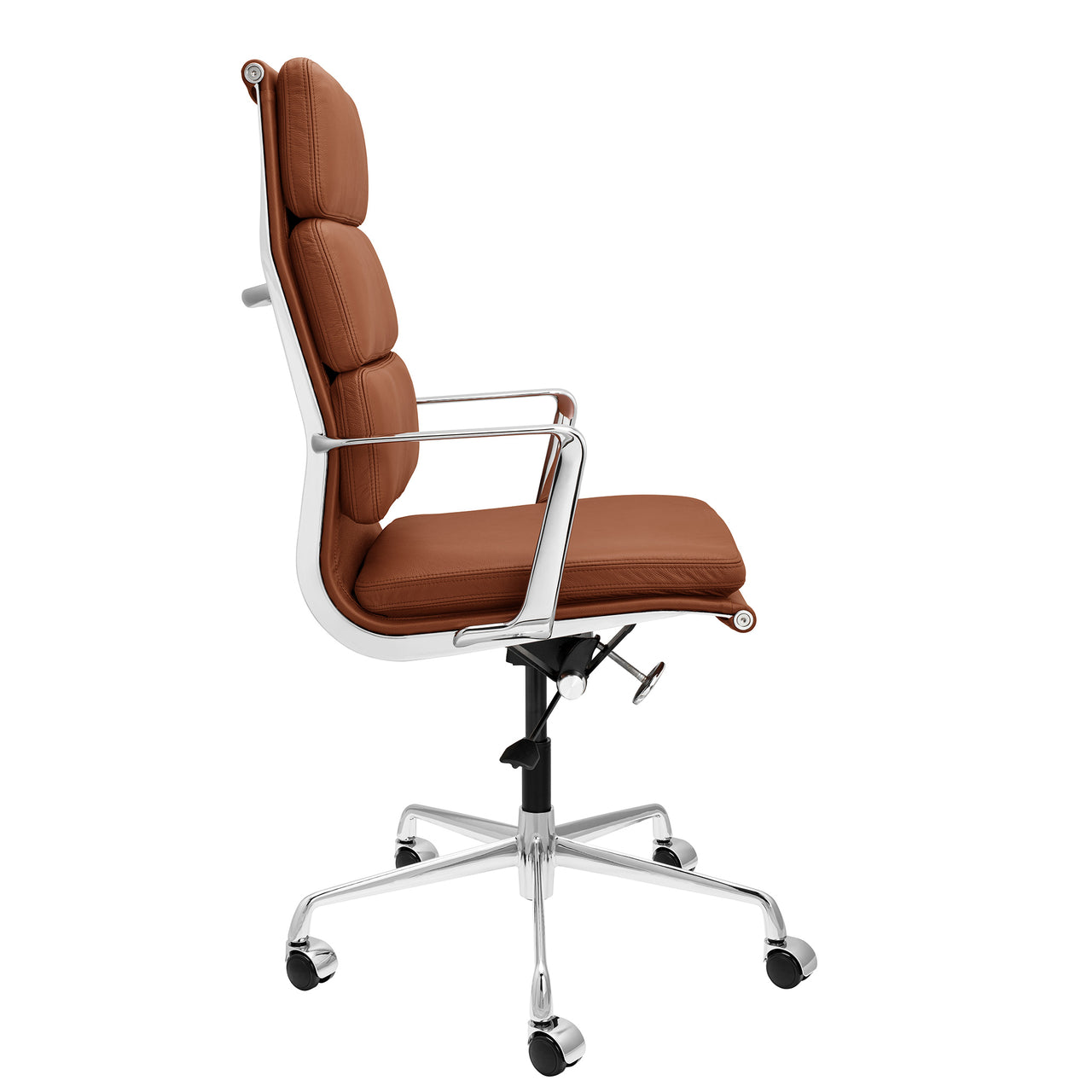 SOHO Pro Tall Back Soft Pad Management Chair (Brown Italian Leather)