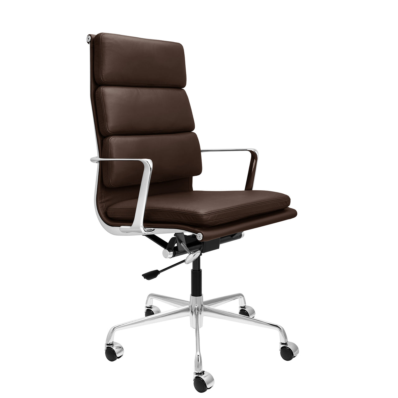 SHIPS MARCH 19TH - SOHO Pro Tall Back Soft Pad Management Chair (Dark Brown Italian Leather)