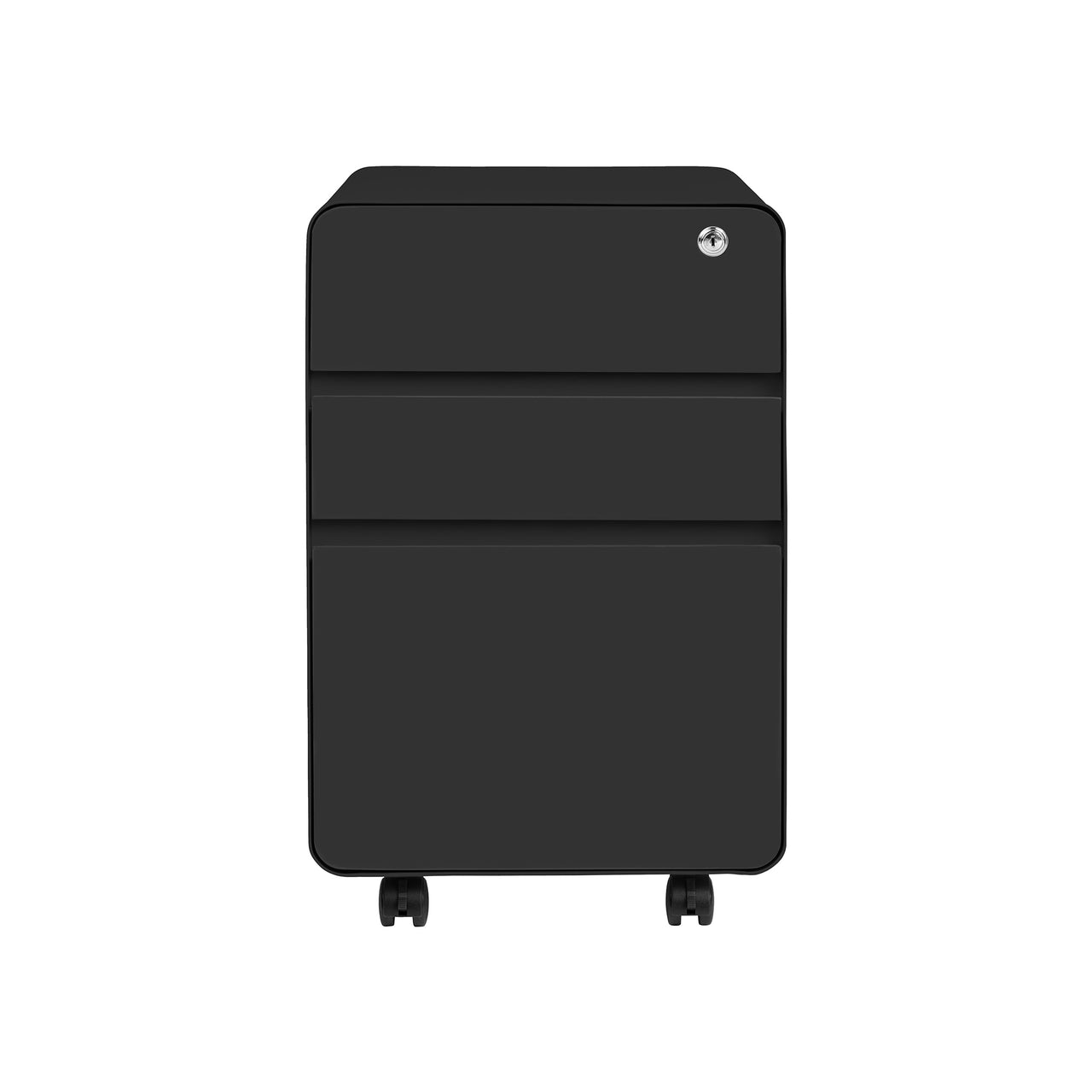 Stockpile Flat 3-Drawer File Cabinet (Black)