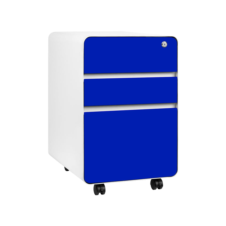 Stockpile Flat 3-Drawer File Cabinet (Blue)