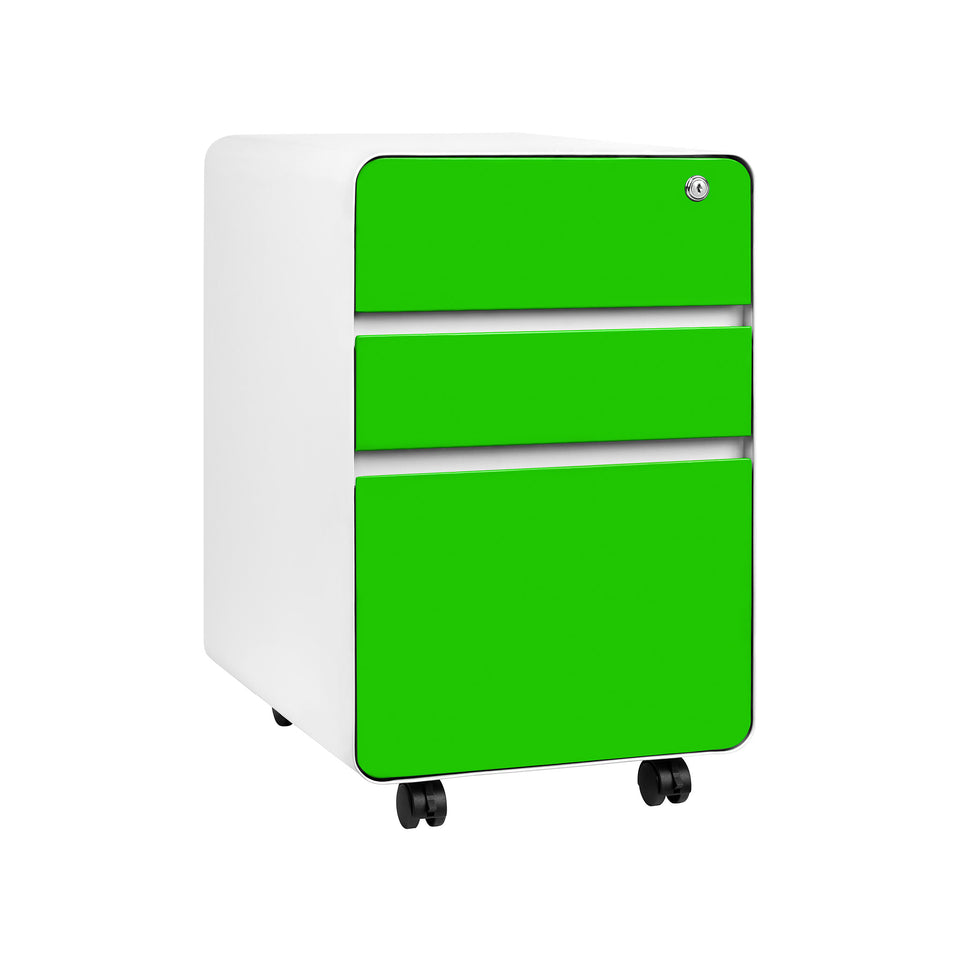 Stockpile Flat 3-Drawer File Cabinet (Green)