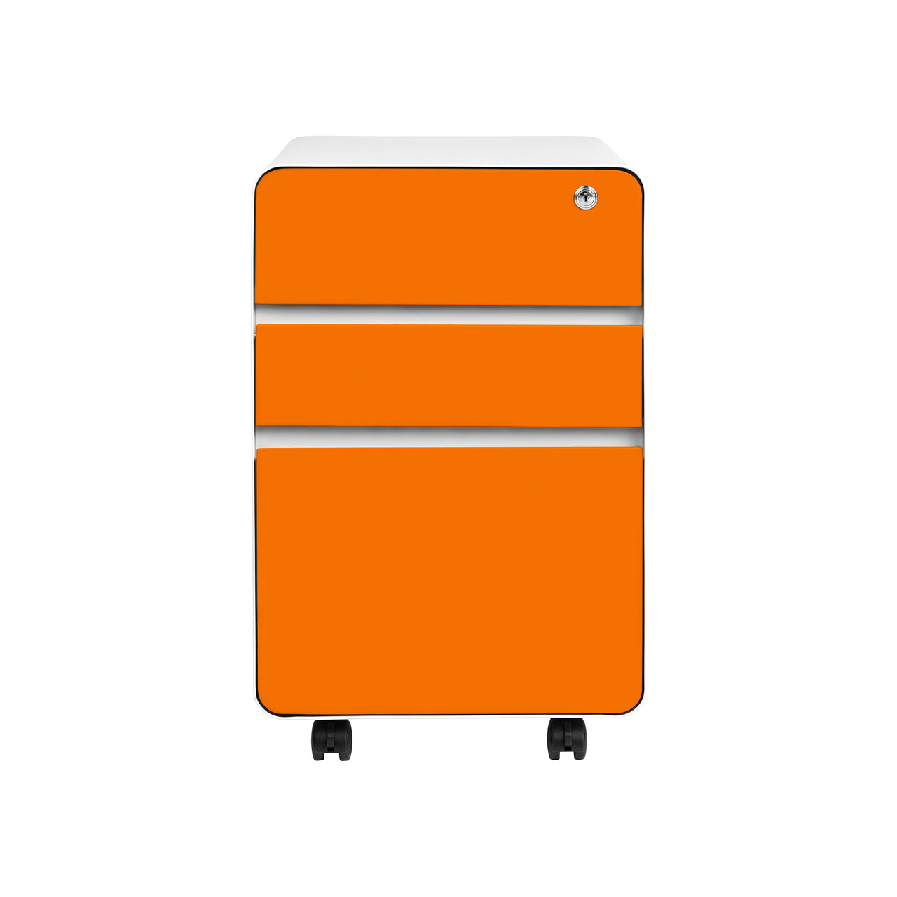 Stockpile Flat 3-Drawer File Cabinet (Orange)