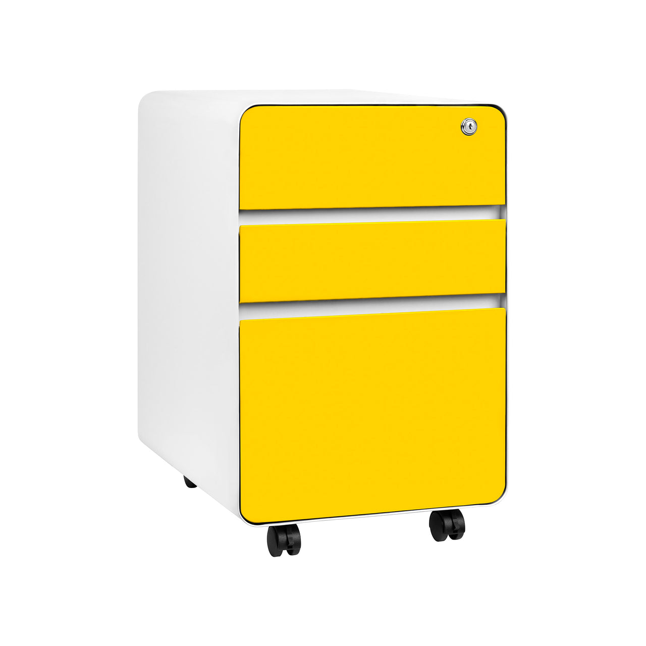 Stockpile Flat 3-Drawer File Cabinet (Yellow)
