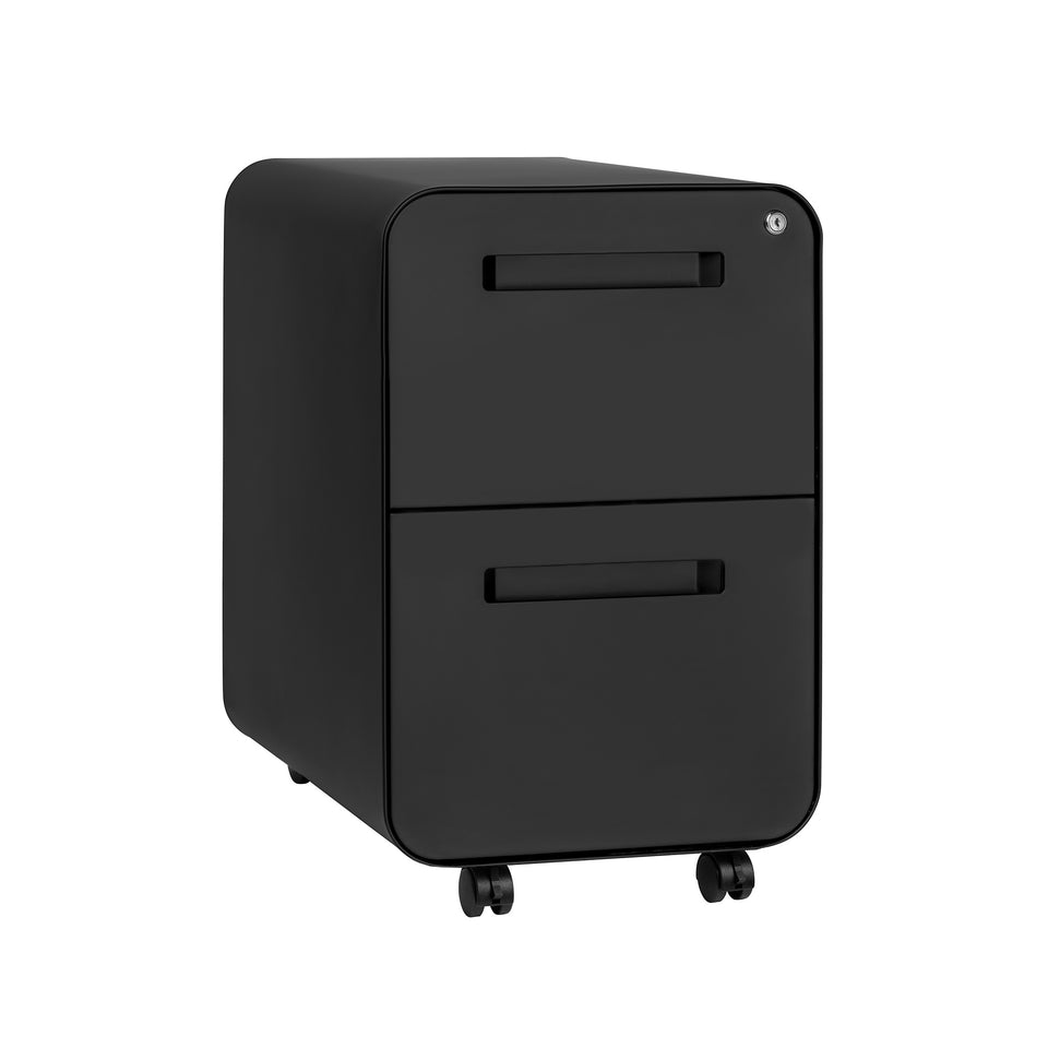 Stockpile Curve 2-Drawer File Cabinet (Black)