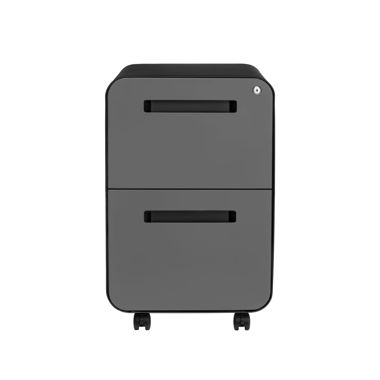 Stockpile Curve 2-Drawer File Cabinet (Black/Grey)