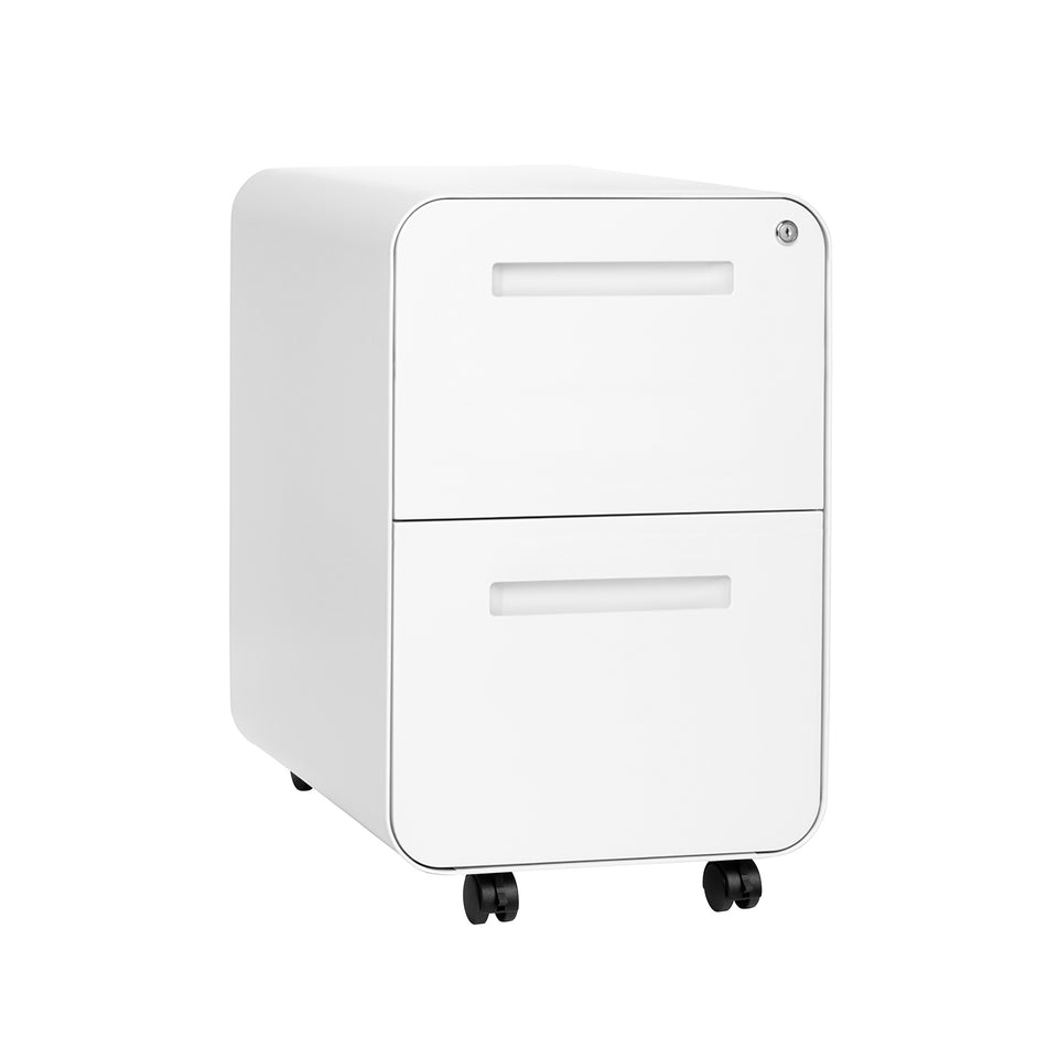Stockpile Curve 2-Drawer File Cabinet (White)